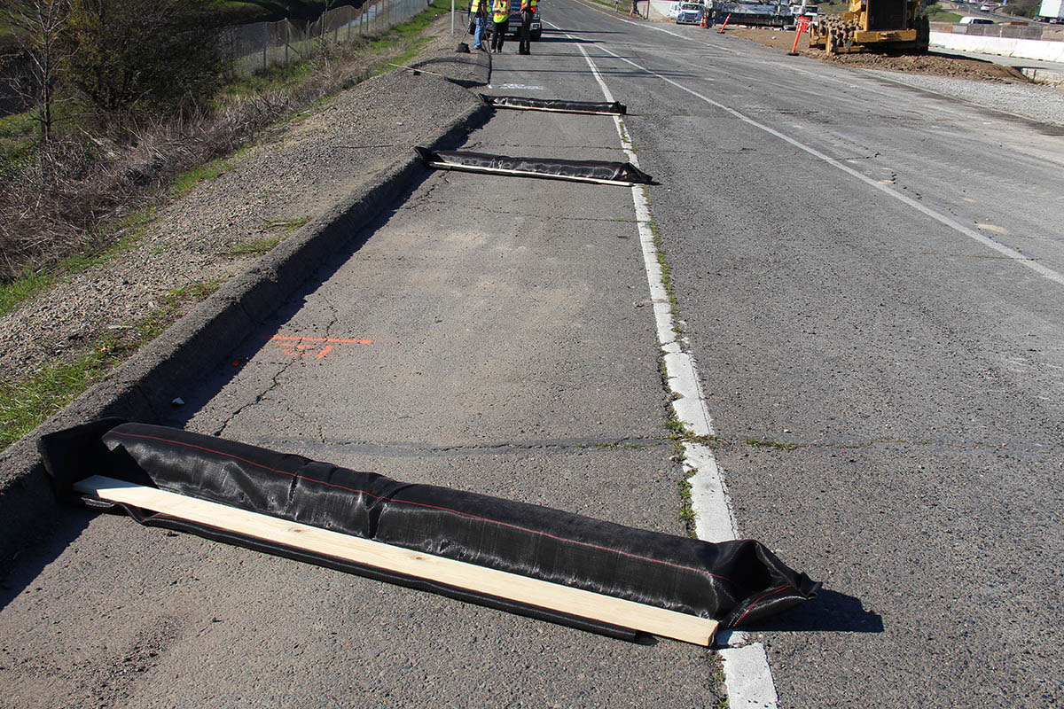 Caltrans roadside ditch checks.