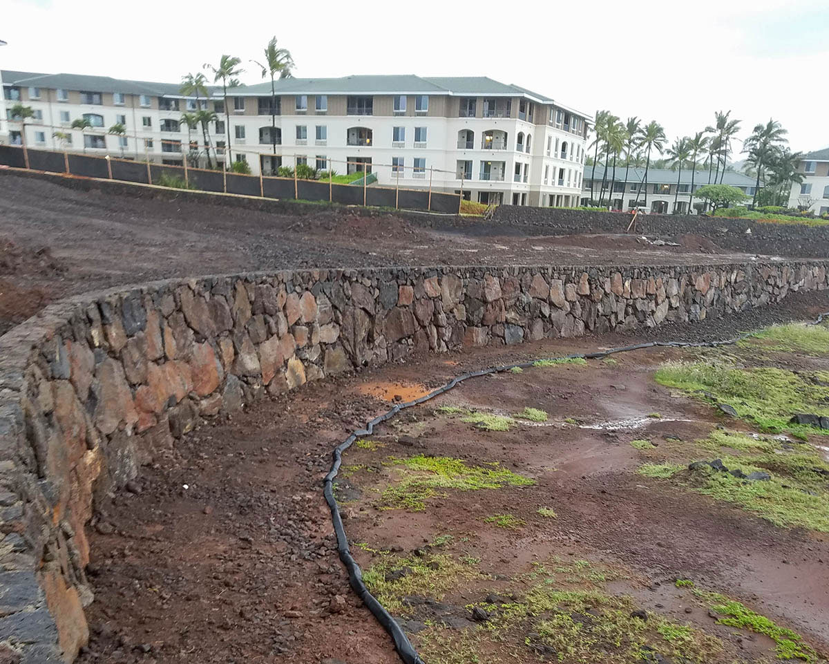 Drainage retaining wall in Hawaii.