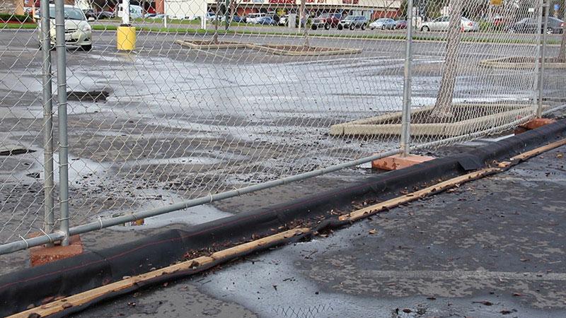 DuraWattle hard surface installation for Shames Construction at Walmart site.
