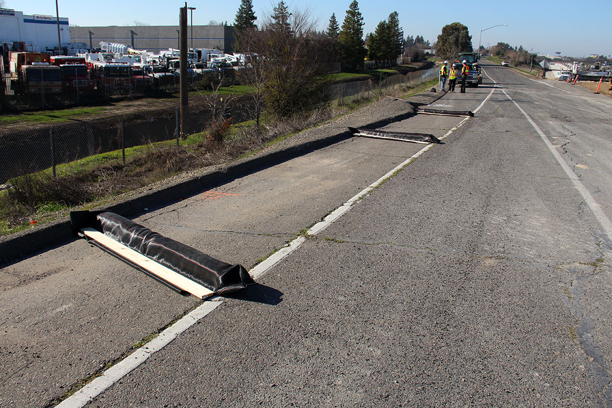 DuraWattle can be installed along highways to interrupt concentrated flow.