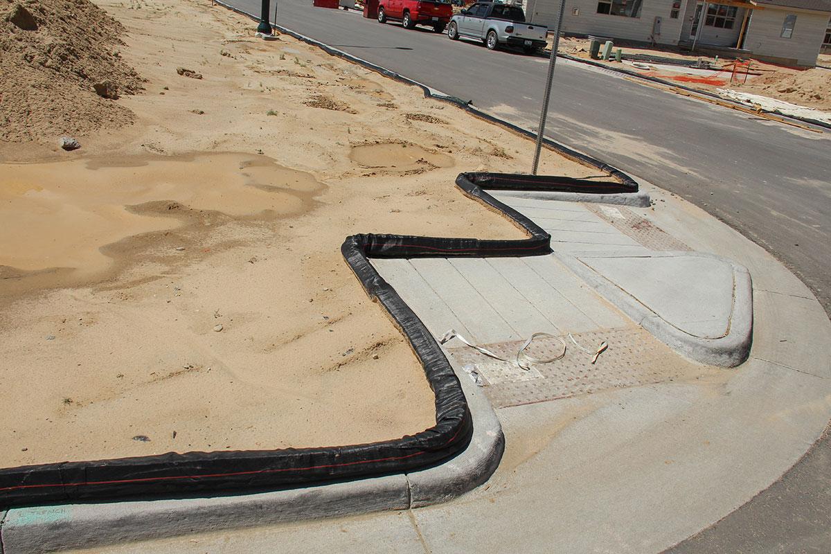 Flexible wattle for sidewalks.